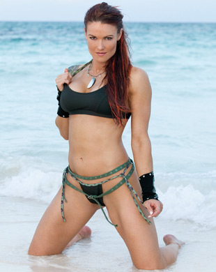 "Amy ""Lita"" Dumas fond d'écran with a bikini entitled Lita Photoshoot Flashback"