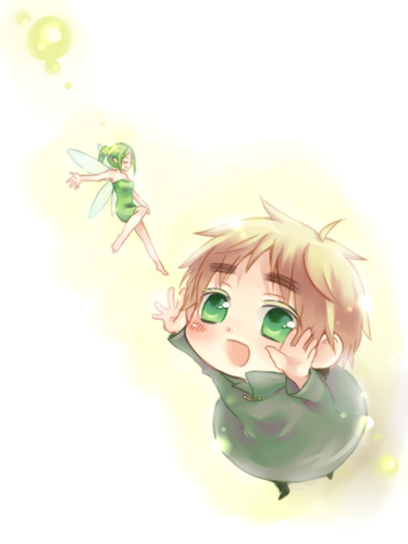 Litte England and his fairy