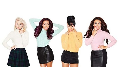 "Little Mix photoshoot for ""Rollercoaster"" magazine as part of लंडन Fashion Week - September 2012."