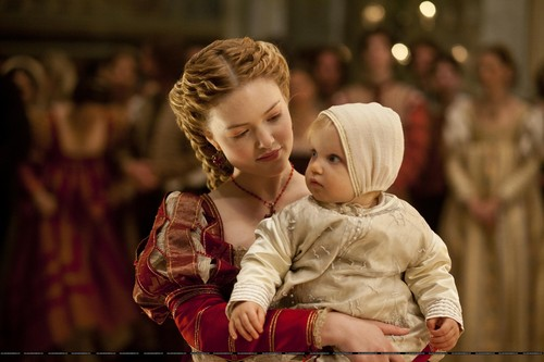 Lucrezia and her baby
