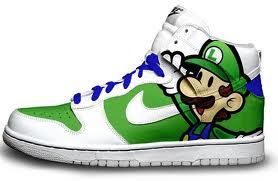 Luigi nike shoe