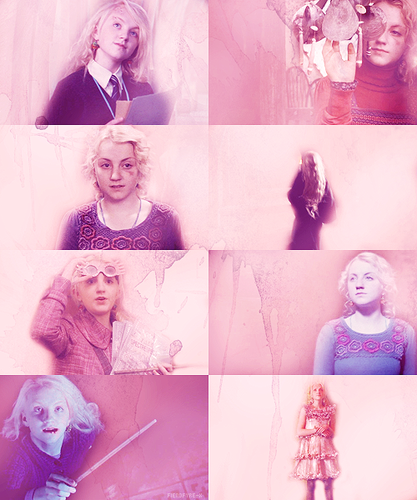 Luna Lovegood in pink