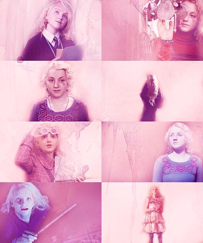 Luna Lovegood in rosa, -de-rosa