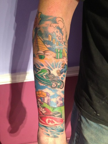 Mario Kart Tattoo Sleeve