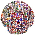 Mario Evolution circle - super-mario-bros photo