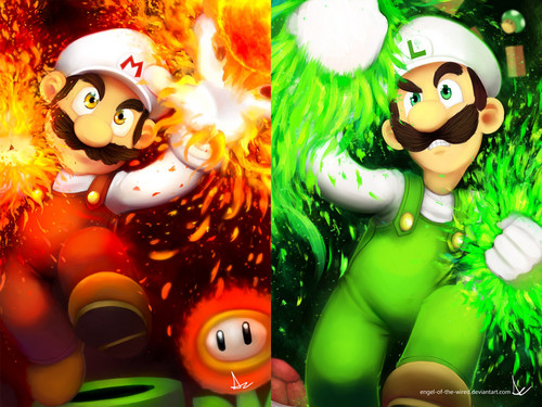 super mario bros wallpaper called Mario and Luigi