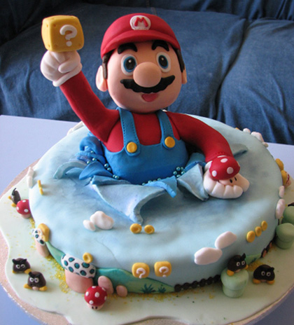 Super Mario Bros. wallpaper titled Mario cake