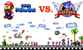 Mario vs Sonic - super-mario-bros photo