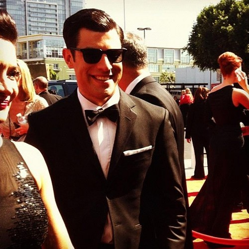 Max Greenfield at Emmy Awards 2012