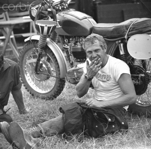 Steve McQueen wallpaper possibly containing a motorcycle cop titled McQueen
