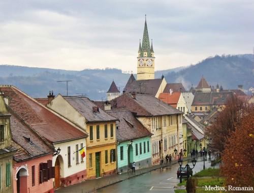 Medias Romania medieval european architecture romanian cities