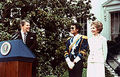 Michae Visiting President And First Lady, Nancy Reagan, Back In 1984 - the-80s photo