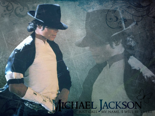 Michael Jackson wallpaper probably containing a sign entitled Michael Jackson ♥♥
