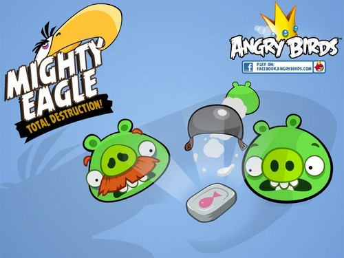 angry birds wallpaper possibly containing anime called Mighty Eagle