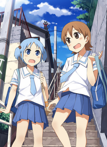 Mio and Yuuko (Nichijou)