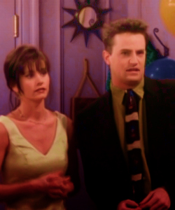 Monica and Chandler wallpaper with a business suit entitled Monica and Chandler