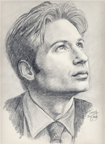 The X-Files fond d'écran possibly containing a business suit and a portrait called Mulder portrait