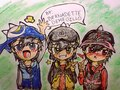 My Fan Art of Boboi Boy Anime Times Three Power Second Transformation Emoticons - boboiboy fan art