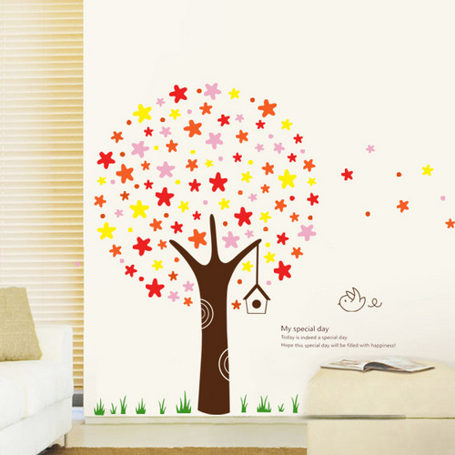 My Special Day Star Tree Wall Sticker