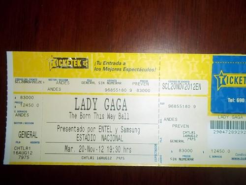 My ticket!