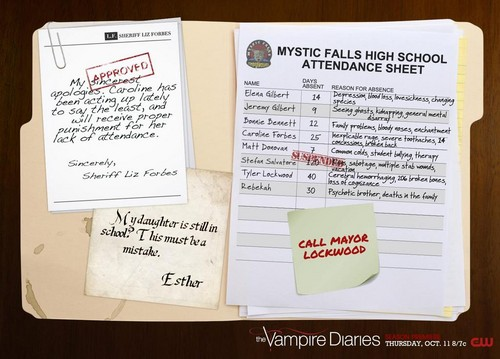 Mystic Falls High School Attendance Sheet