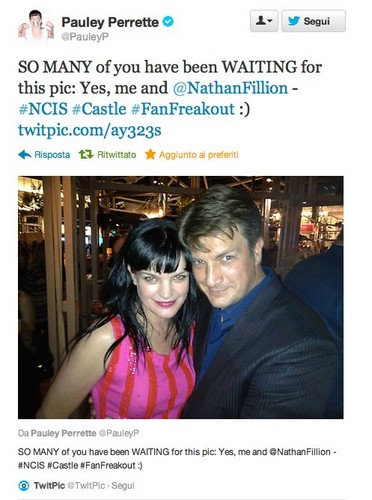 Nathan Fillion & Pauley Perrette