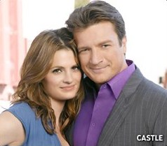 Nathan Fillion & Stana Katic wallpaper containing a business suit and a portrait called Nathan Fillion & Stana Katic