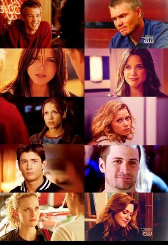 Nathan, Haley, Lucas, Peyton & Brooke Over The Years