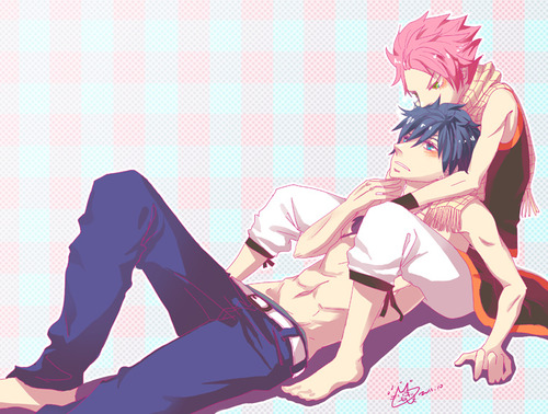 fairy tail wallpaper entitled Natsu x Gray <3