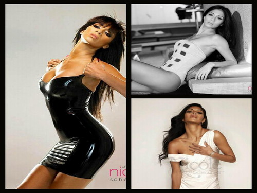 니콜 셰르징거 바탕화면 with a bustier, attractiveness, and a 수영복 called Nicole Scherzinger