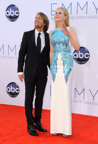 Nicole and Keith at the 64th Annual Primetime Emmy Awards