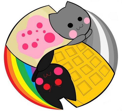 Nyan Cat Hintergrund titled Nyan cat Tac Nayn