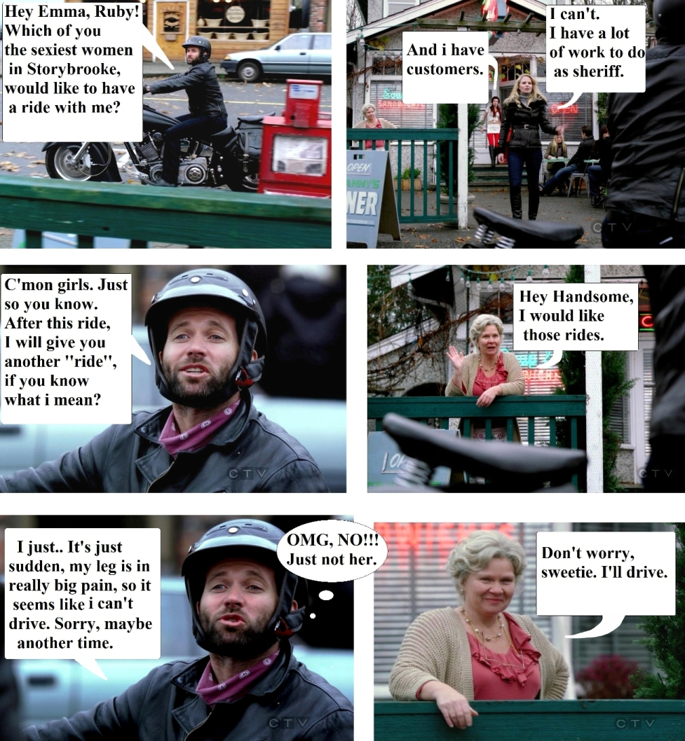 OUAT - Funny Comics - Jokes - Emma, Ruby, August and Granny