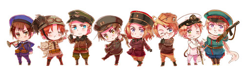 Hetalia پیپر وال entitled Official Chibi Art~!