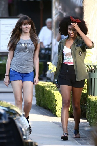 Paris Jackson and her best friend Michaela Blanks out in Calabasas ♥♥ NEW September 2012