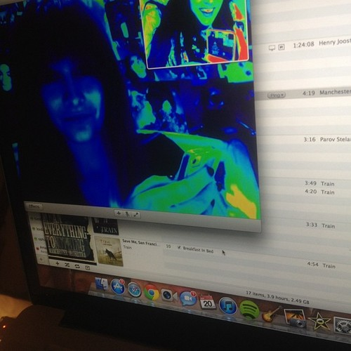 Paris Jackson and her best friend Spencer Malnik on ichat ♥♥