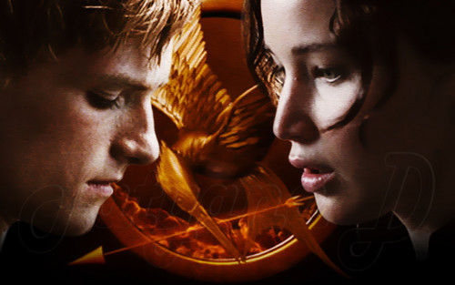 Peeta Mellark and Katniss Everdeen wolpeyper titled Peeta Mellark and Katniss Everdeen
