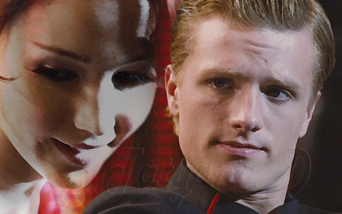 Peeta Mellark and Katniss Everdeen kertas dinding called Peeta Mellark and Katniss Everdeen