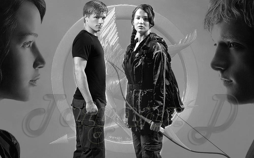 Peeta Mellark and Katniss Everdeen