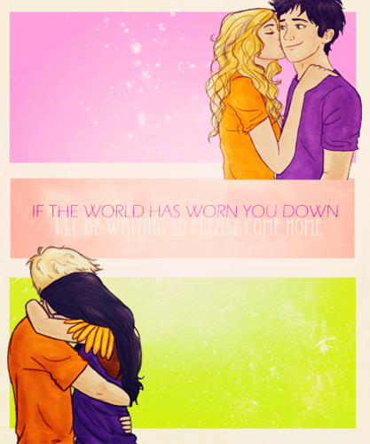 The Heroes of Olympus achtergrond possibly with anime and a portrait called Percabeth & Jeyna