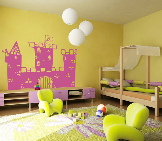 Prince's lâu đài Nursery tường Sticker