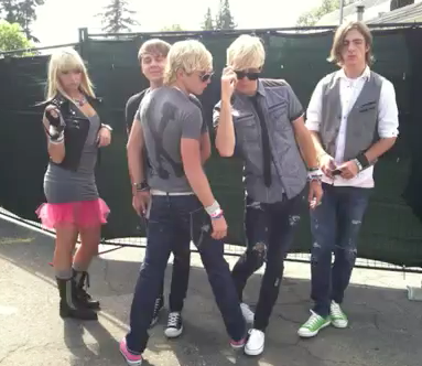 Ross Lynch / Austin wallpaper probably containing a carriageway, a business suit, and a workwear called R5 TV - Vancouver