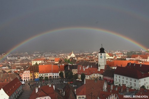 cầu vồng in Sibiu city Romania, Transylvania Roumanie
