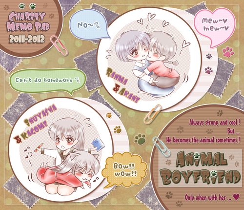 Ranma 1/2 x Inuyasha: Akane and Kagome's animal boyfriends