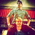 Really cool pic of Chord and Harry on set of Glee :) - harry-shum-jr photo