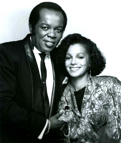 Rebbie with Lou rawls