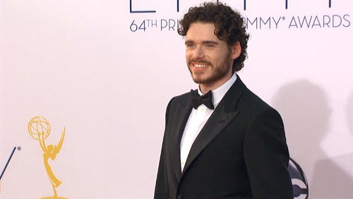 Game of Thrones wallpaper containing a business suit and a suit called Richard Madden  @ 2012 Emmy Awards