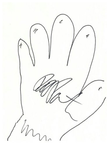 Robert Pattinson Draws His Hand