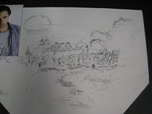 Robert Pattinson's Art Work (Unfinished City)