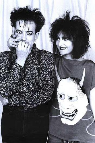 Robert Smith and Siouxsie Sioux